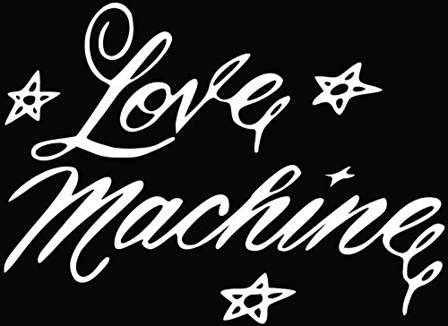 Love Machine Cheek Chong Car Truck Window Bumper Vinyl Graphic Decal Sticker- (10 inch) / (25 cm) Wide GLOSS WHITE Color