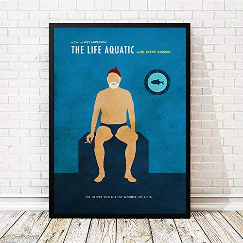 Wes Anderson Life Aquatic With Steve Zissou Minimalist Movie Poster, Artwork Print, Unframed Print, Office Decor, Home Decor, Wall Hanging, Cafe Decor