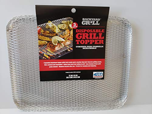 3 Pack Disposable Grill Topper/Cubierta para Parrilla Desechable