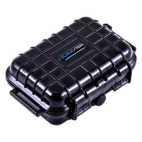 CLOUD/TEN Mini Smell Proof 5 inch Odor Resistant Case Compatible with Mini Hookah Pipe Tobacco Handpipe Airtight Dry Box Storage - Includes Case Only