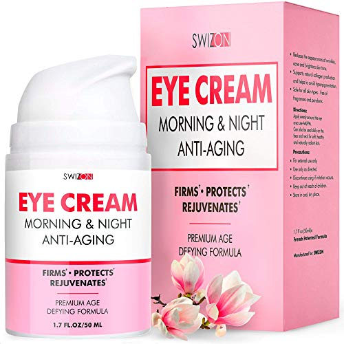 Anti-Aging Eye Cream for Dark Circles and Puffiness - Wrinkle Repair, Moisturizing, Rejuvenating for Women, Men - Under-Eye Anti-Wrinkle Cream for Eye Bags, Fine Lines - Made in the Usa
