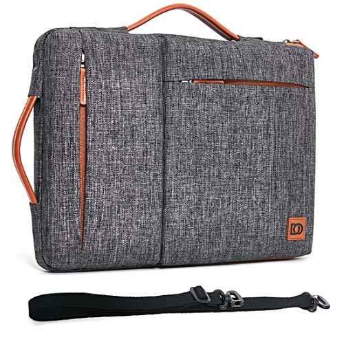 DOMISO 17 Inch Laptop Sleeve Shoulder Bag Water-Resistant Protective Case for 17.3' Dell Inspiron/MSI GS73VR Stealth Pro/Lenovo IdeaPad 300 320 321/ HP Envy 17/ LG Gram 17'/ ASUS ROG Strix GL702VS