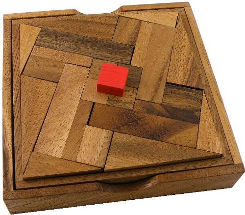 Impossible Square Wooden Puzzle Brain Teaser