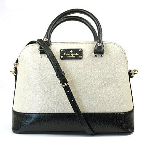 Kate Spade Berkeley Lane Small Rachelle Handbag Shoulder Bag in Porcelain/Black