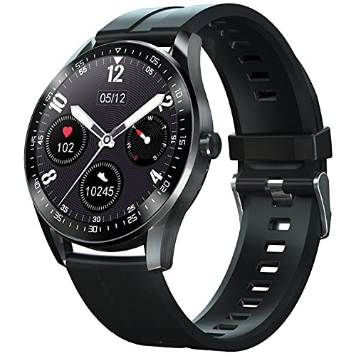 Smart Watch for Android iOS Phones Fitness Tracker with Heart Rate Blood Pressure Blood Oxygen Sleep Monitor Body Temperature Smartwatch Fitness Watch for Men Women Compatible iPhone Android Samsung