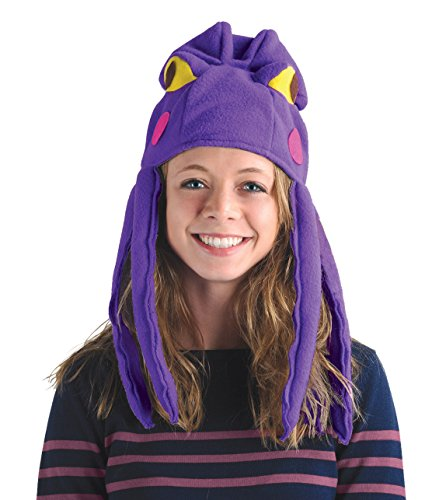 Beistle Plush Fabric Octopus Hat Under The Sea Party Supplies, Luau Headwear, Halloween Costume Accessory, One Size, Purple/Pink/Yellow