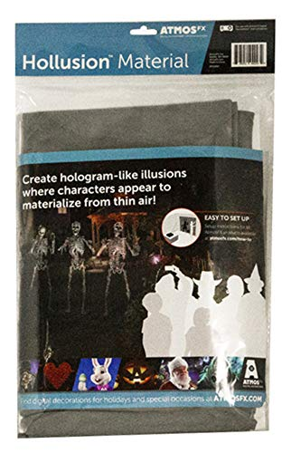 AtmosFX Hollusion Projection Material, Grey, 5.5 x 9 ft