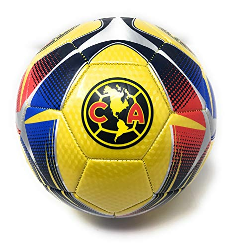 Club America Soccer Ball Size 5 Futbol Official Licensed Liga MX Aguilas Del America Soccer Training Equipment for Kids- Great for Boys and Girls, Players, Trainers, Coaches Gift Idea