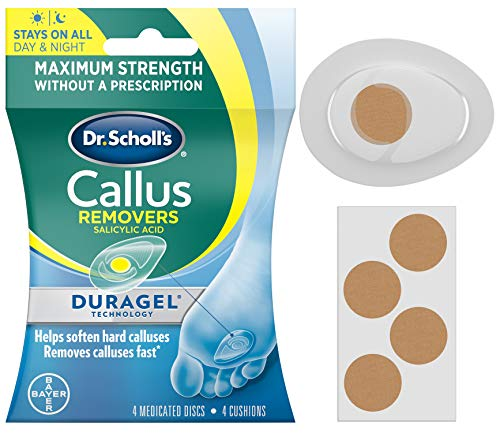 Dr Scholl's Duragel Callus Removers, 4 Cushions and 4 Medicated Discs
