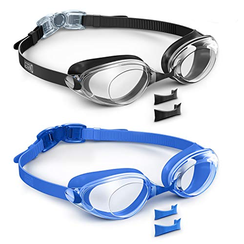 Aegend 2 Pack Swim Goggles, Swimming Goggles Flat Lenses, Anti-Fog UV Protection Leak-Proof Triathlon Swim Glasses with Free Protection Case for Adult Men Women Youth