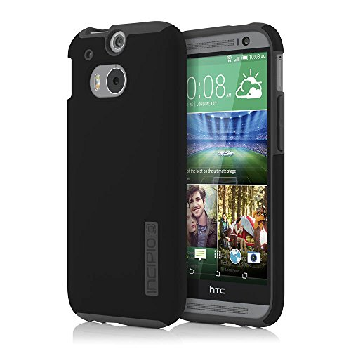 Incipio HTC One M8 Case - Dualpro Tough Protection Two Piece Plastic and TPU Slim Cover - Black/Gray