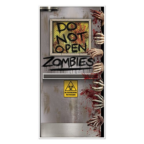 Beistle Zombies Lab Door Cover, 30' by 5', Multicolor