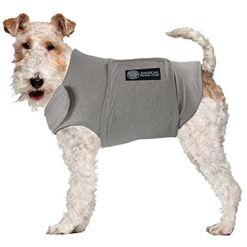 American Kennel Club Anti Anxiety and Stress Relief Calming Coat for Dogs, Extra Small, Grey