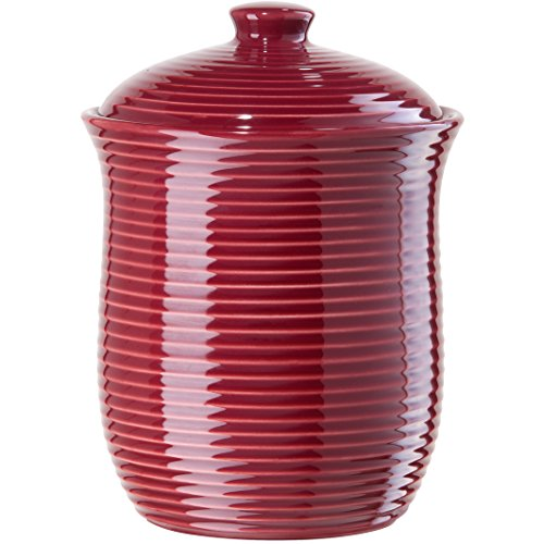 Oggi Small Ceramic Ribbed Food Storage Canister