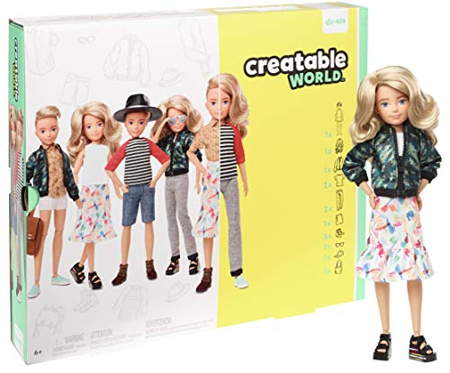 Creatable World Deluxe Character Kit Customizable Doll, Blonde Wavy Hair, Multi (GGT67)