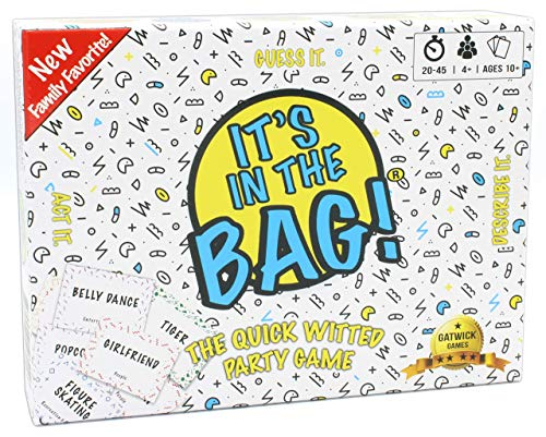 It's in The Bag!   The Ultimate Family Party Game for Game Night! - A Mashup of Charades Family Games for Kids and Adults & 25 Words or Less Card Games - Board Games for Family Night with Kids, Teens