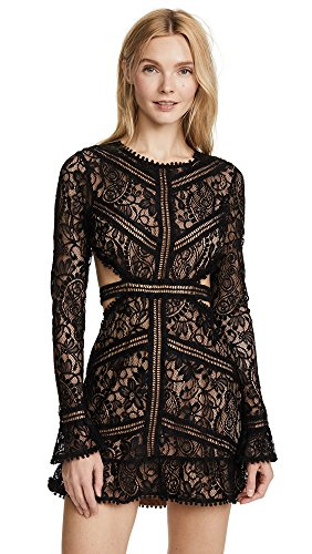 For Love & Lemons Women's Emerie Cutout Dress, Black, Medium
