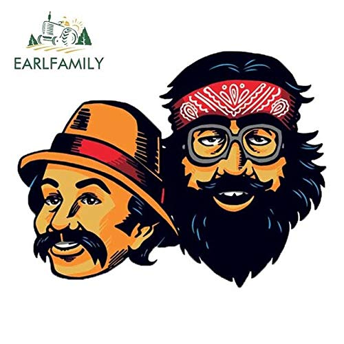 A/X 13cm x 13cm for Cheech Chong Fine Decal Auto Refrigerator Car Stickers Decoration Car Door Protector for Van RV