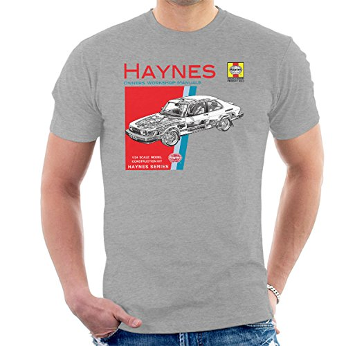 POD66 Haynes Owners Workshop Manual 0765 Saab 900 Turbo Men's T-Shirt Heather Grey