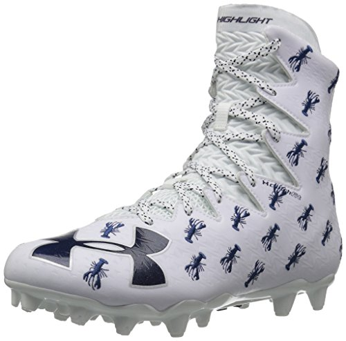 Under Armour Men's Highlight M.C. Limited Edition Lacrosse Shoe, White (101)/Midnight Navy, 7.5