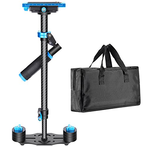 Neewer Carbon Fiber 24'/60cm Handheld Stabilizer with Quick Release Plate 1/4' and 3/8' Screw for DSLR and Video Cameras up to 6.6lbs/3kg