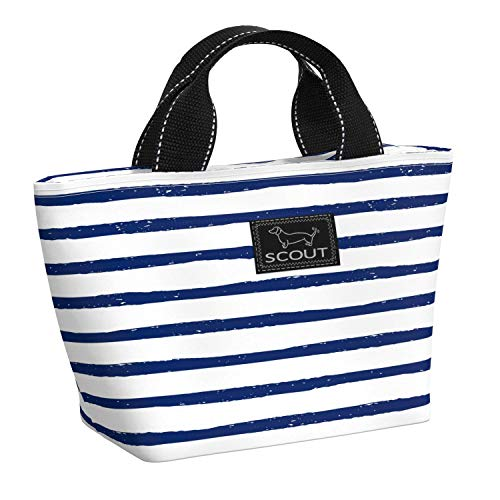 SCOUT Nooner Lunch Box, Water-Resistant, Lightweight, Insulated Lunch Bag for Women with Zippered Closure and Exterior Zipper Pocket in Ship Shape Pattern (Multiple Patterns Available)
