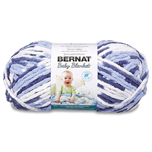 Bernat Baby Blanket Yarn - (6) Super Bulky Gauge - 10.5 oz - Blue Dreams - Single Ball Machine Wash & Dry (16110404134)