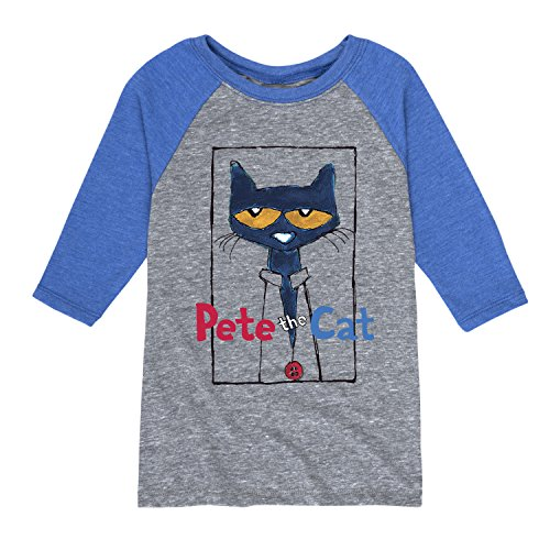 Pete The Cat Frame with Button - Toddler Raglan