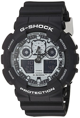 Casio G-Shock GA-100BW-1A White and Black Series Luxury Watch - Black/One Size