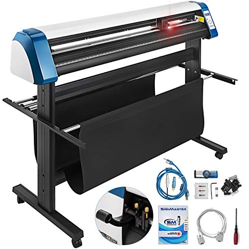 VEVOR Vinyl Cutter 53 Inch Vinyl Cutter Machine Semi-Automatic DIY Vinyl Printer Cutter Machine Manual Positioning Sign Cutting with Floor Stand Signmaster Software