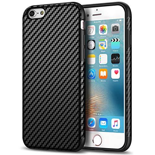 Tasikar Compatible with iPhone 6s Plus Case/iPhone 6 Plus Case Good Grip Slim Case Carbon Fiber Leather Design for iPhone 6s Plus/iPhone 6 Plus (Black)