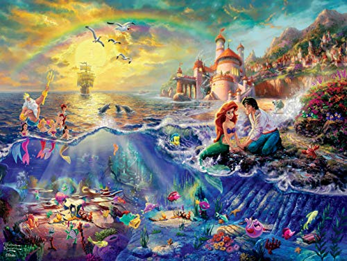 Ceaco Thomas Kinkade Disney Princess Collection The Little Mermaid Jigsaw Puzzle, 300 Pieces