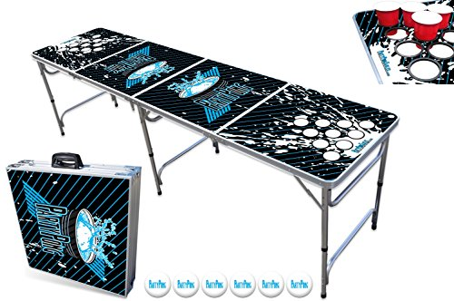 PartyPongTables.com 8-Foot Beer Pong Table with Cup Holes - Splash Edition