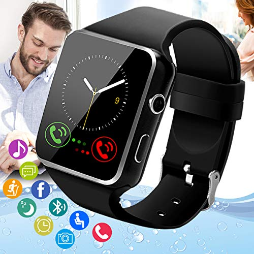Smart Watch,Android Smartwatch Touch Screen Bluetooth Smart Watch for Android Phones Waterproof Wrist Phone Watch with SIM Card Slot & Camera