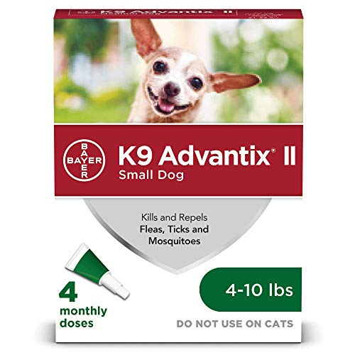 K9 Advantix II Flea and Tick Prevention for Small Dogs 4-Pack, 4-10 Pounds