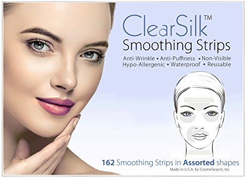 ClearSilk Smoothing Strips (Assorted 162 Ct) Facial Wrinkle Removal Repair and Prevention