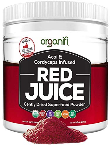 Organifi: Red Juice - Organic Superfood Supplement Powder - 30-Day Supply - Organic - Boosts Metabolism - Anti-Aging Properties - Immunity Support
