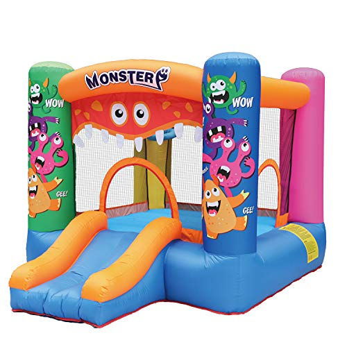 AirMyFun Inflatable Bounce House,Bouncy Castle with Air Blower,Bouncy House for Kids Party,Play House,Jumping Castle with Carry Bag(Monster Theme)