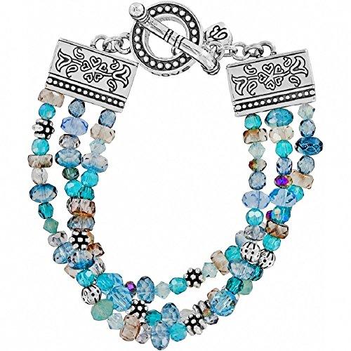 Brighton Ophelia Jewels Bead Silver Plated Blue Bracelet