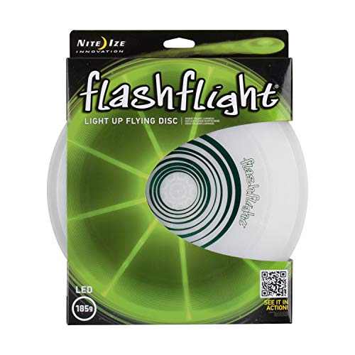 Nite Ize Flashflight LED Flying Disc, Light up the Dark for Night Games, Green