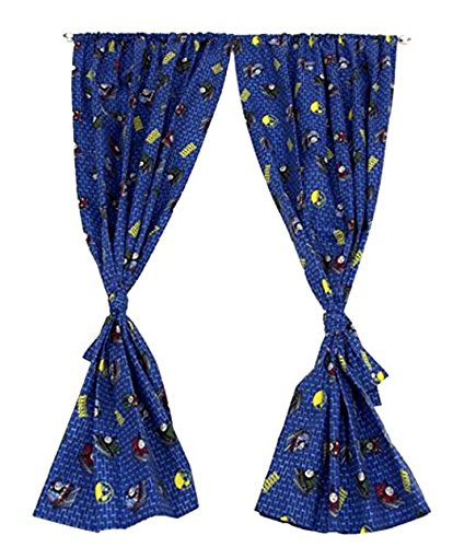 Thomas and Friend Window Curtains For Kids Room, Rod Pocket Drapes, 1 Pair with Tie-Backs, Microfiber, 42 x 63 in
