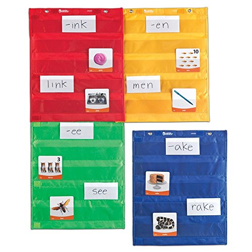 Learning Resources Magnetic Pocket Chart Squares, Classroom/Teacher Organizer, Classroom Supplies, Homeschool Supplies, All Grades, Set of 4