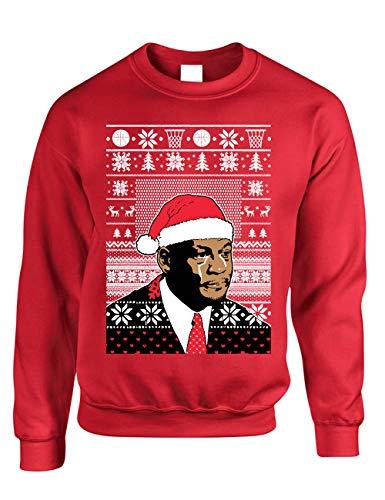 ALLNTRENDS Adult Sweatshirt umpman Jordan Christmas Ugly Sweater (L, Red)