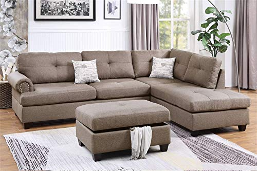 Poundex Sectional, Mocha