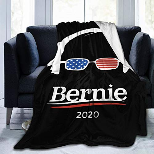 Bernie Sanders Fleece Blanket Ultra-Soft Hypoallergenic Plush Bed Couch Living Room Or Travel 60'x50'