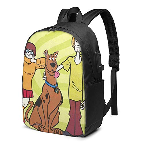 Scoo-Bydoo Anime Usb Charging Port Backpacks For Men & Women Durable Travel Business Bags Laptop Bags Daypack