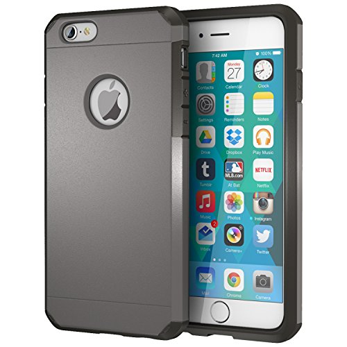iPhone 6 / 6s Case, ImpactStrong Heavy Duty Dual Layer Protection Cover Heavy Duty Case for iPhone 6 / 6s (Gun Metal)