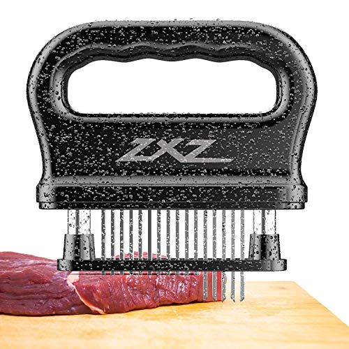 ZXZ Meat Tenderizer, 48 Stainless Steel Sharp Needle Blade, Heavy Duty Cooking Tool for Tenderizing Beef, Turkey, Chicken, Steak, Veal, Pork, Fish, Christmas Cooking Set