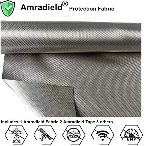 Earth Grounding Faraday RFID Shielding Fabric-Block WiFi/RF-Anti-Radiation Conductive Magnetic Copper/Nickel EMF Protection Fabric 78'x43' inch