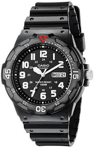 Casio Japanese-Quartz Sport Watch with Resin Strap, Black, 18 (Model: EAW-MRW-200H-1BV)
